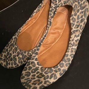 Great condition leopard cheetah print lucky flats